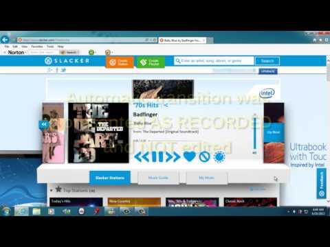 Compare Gapless Playback Transitions - True Blend™ vs Slacker® - HD v2t