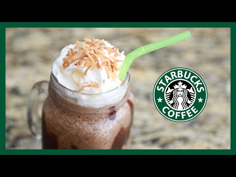 DIY Starbucks Mocha Coconut Frappuccino