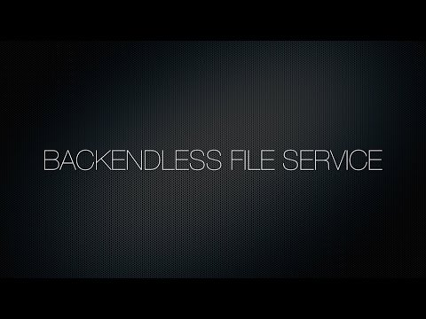 Video 8. Backendless File Service