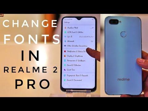 Realme 2 Pro Fonts Changer | Change Fonts in Realme 2 Pro