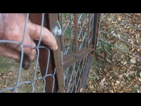 How To Make a gate for chain link fence