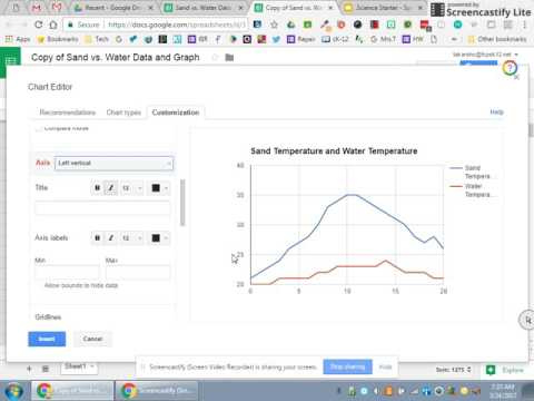 How to make a double line graph in sheets