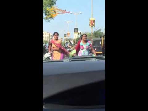 Rajkot - 5 girls beat one boy in city street