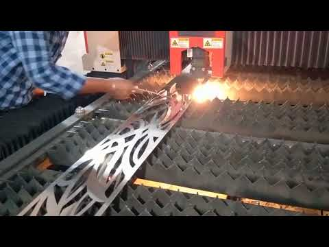 Fiber laser cutting machine for cutting 1mm  steel door, steel window, furniture