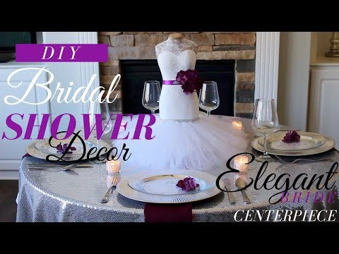 DIY BRIDAL SHOWER DECORATIONS | DIY BRIDAL SHOWER CENTERPIECE