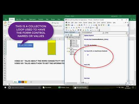 Learn Excel - Video 510-  VBA - Export multiple  sheets data in MS Word using FORMS- Series 4