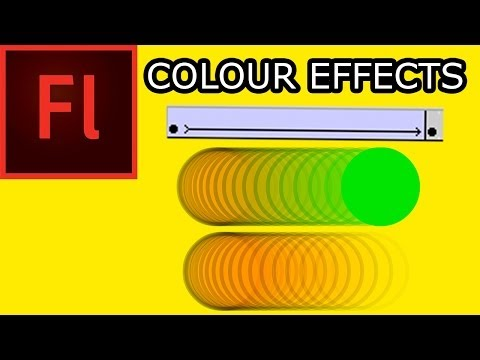 How To Animate In Flash CS5: 004 Colour Effects Alpha, Tint & Brightness