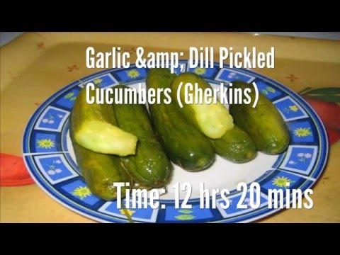 Garlic & Dill Pickled Cucumbers (Gherkins) Recipe