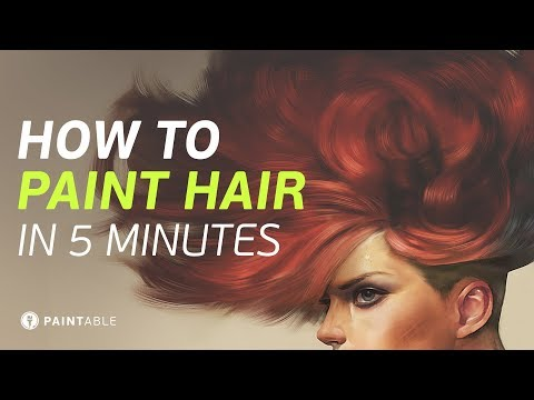 How to Paint Realistic Hair (In Just 5 Minutes!)