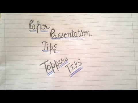 Paper presentation tips to get highest marks out of your paper