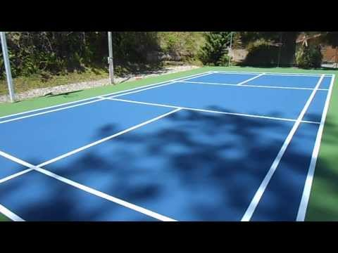 Doubles Badminton court completed in 2013.