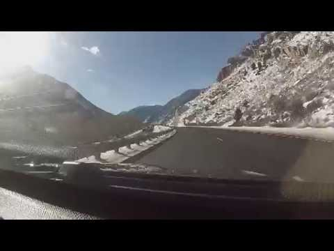 Beautiful Colorado Mountain drive, I70 westbound,Snowboard drive, Copper mountain