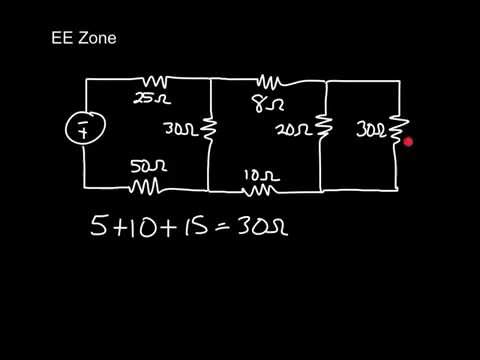 DC Series-parallel Circuit Total Resistance