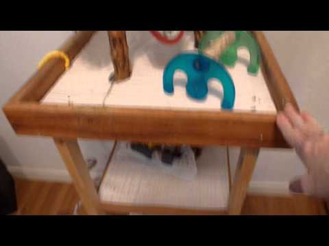 HOMEMADE BIRD TOYS,  BIRD STAND CLEANING TIPS