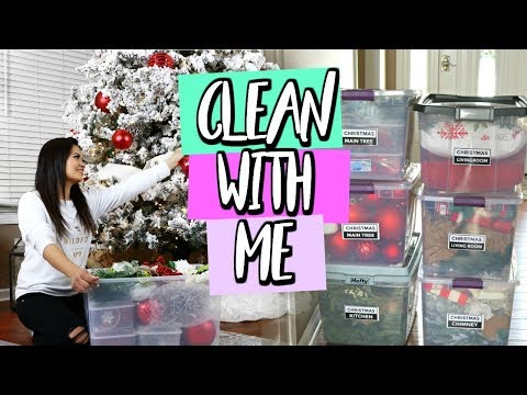 CLEAN WITH ME: CHRISTMAS DECOR STORAGE HACKS | BELINDA SELENE