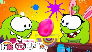 OM NOM AND OM NELLE PAINTING EGGS! Cut The Rope Official | Funny Cartoons for Children HooplaKidzTV!