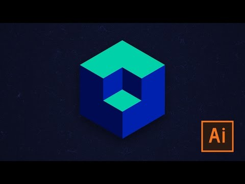 Learn how to create 3D Cube in Adobe Illustrator (takes less than a minute!)