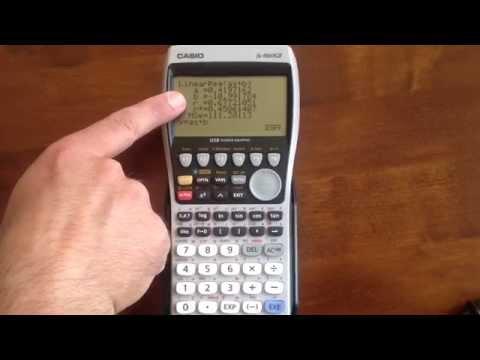 Stats Mode: Casio Graphical Calculators