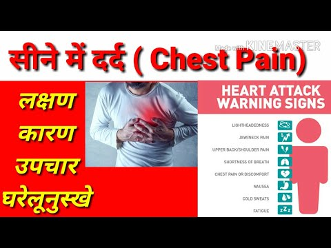 सीने में दर्द Chest Pain   heart attack in hindi  Chest Pain Symptoms   treatment   causes   upay