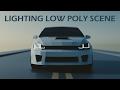 Blender Tutorial: Lighting Low Poly Scene