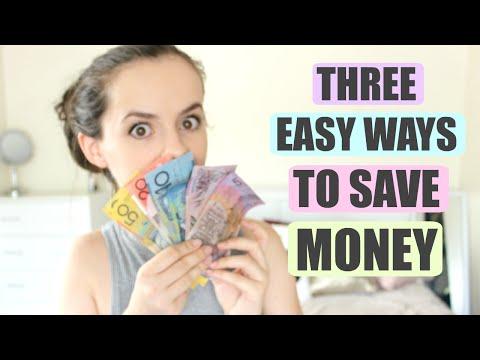 3 EASY WAYS TO SAVE MONEY!    $$$
