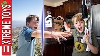 Teleport Trouble! Crazy Nerf Battle with Ethan and Cole