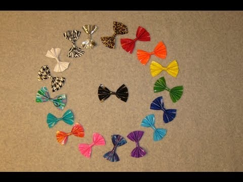 New! Updated Easy Duct Tape Hair Bow
