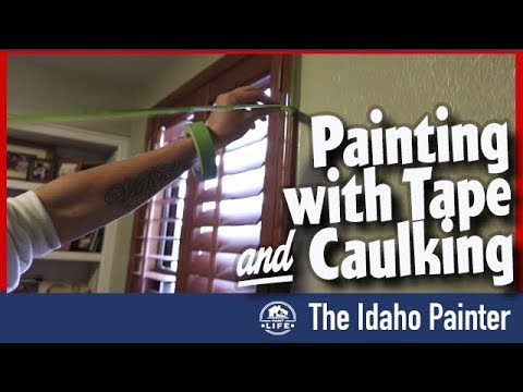 Painting PERFECT Lines with Clear Caulking and FrogTape.  SPANISH