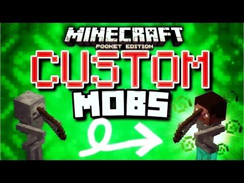 Minecraft Pocket Edition - Custom MOBS in Minecraft PE! (MCPE Command Block Map)