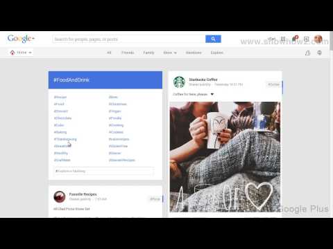 Google+ - How To See Food And Drink Posts On Google Plus