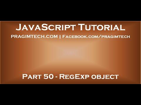JavaScript RegExp object