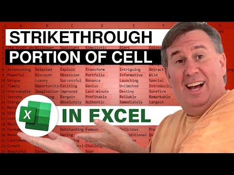 Mrexcel S Learn Excel 547 Strikethrough A Portion