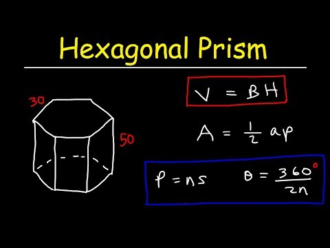 Surface Area of a Hexagonal Prism - Volume & Lateral Area - Geometry