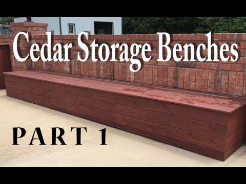 Building Cedar Storage Benches