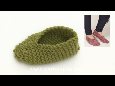 How to knit the slippers in DROPS Extra 0-1279