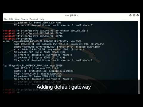 How to configure Network Adapter in Kali Linux using Command Line Interface (CLI)
