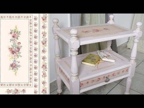 How to shabby chic a furniture. Chalk painted Pink vintage table DIY