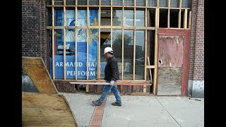 A look at the store fronts of the closed Victory Theatre in Holyoke