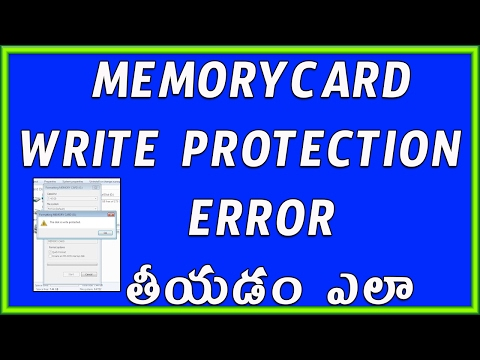 How to Remove Write protection from Memory card or Pendrive