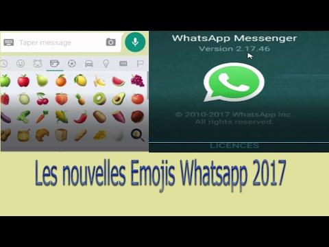 Comment avoir les nouveaux Emojis Whatsapp 2017