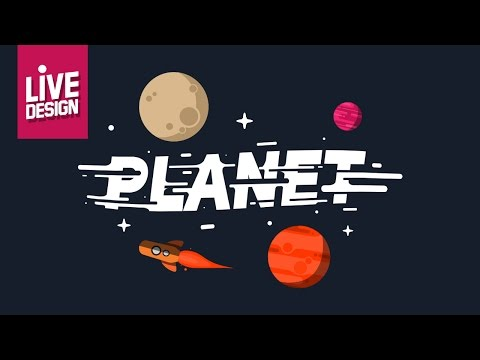 Live DESIGN Photoshop - How to Create Space Flat Design (Designing, Planet, Star & Text Effects )