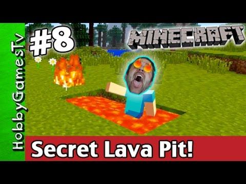 Minecraft SECRET LAVA PIT Jump Tutorial Xbox 360 HobbyGamesTV