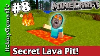 Minecraft SECRET LAVA PIT Jump Tutorial Xbox 360 HobbyGamesTV