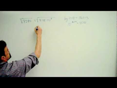 Finding a square root using logarithms