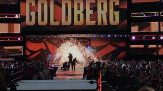 Goldberg comes out for his last WWE Raw appearance after Wrestlemania 33 Live