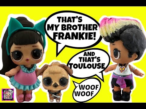 Ariana Grande, Brother Frankie & Toulouse LOL Doll Customs Talk Wedding & Open Blind Bag Toys Part 1