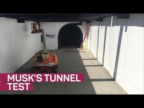 Elon Musk posts traffic tunnel test video on Instagram