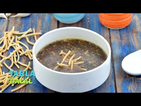 Manchow Soup, Veg Manchow Chinese Soup by Tarla Dalal
