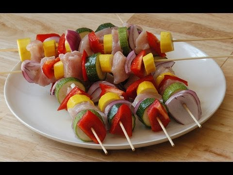 Baked Chicken & Vegetable Kabobs! Easy Chicken Recipes