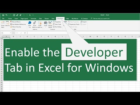 How to Enable the Developer Tab in Excel for Windows